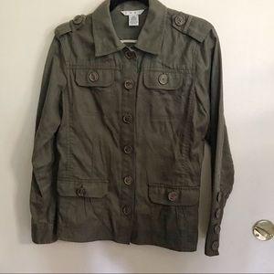 CAbi Military Ambush Olive Green Jacket #493